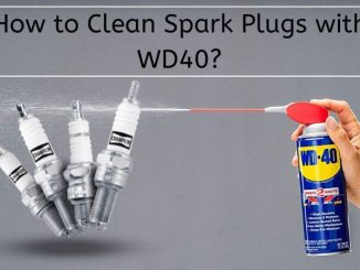 clean spark plugs with WD40