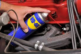 spark plug with WD40